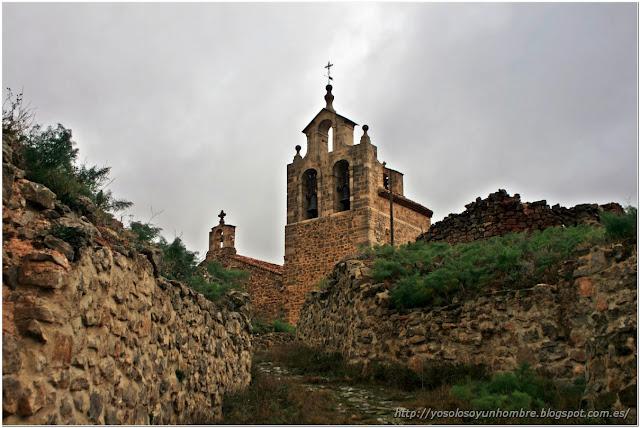 llegando a la iglesia de Santa María la Mayor
