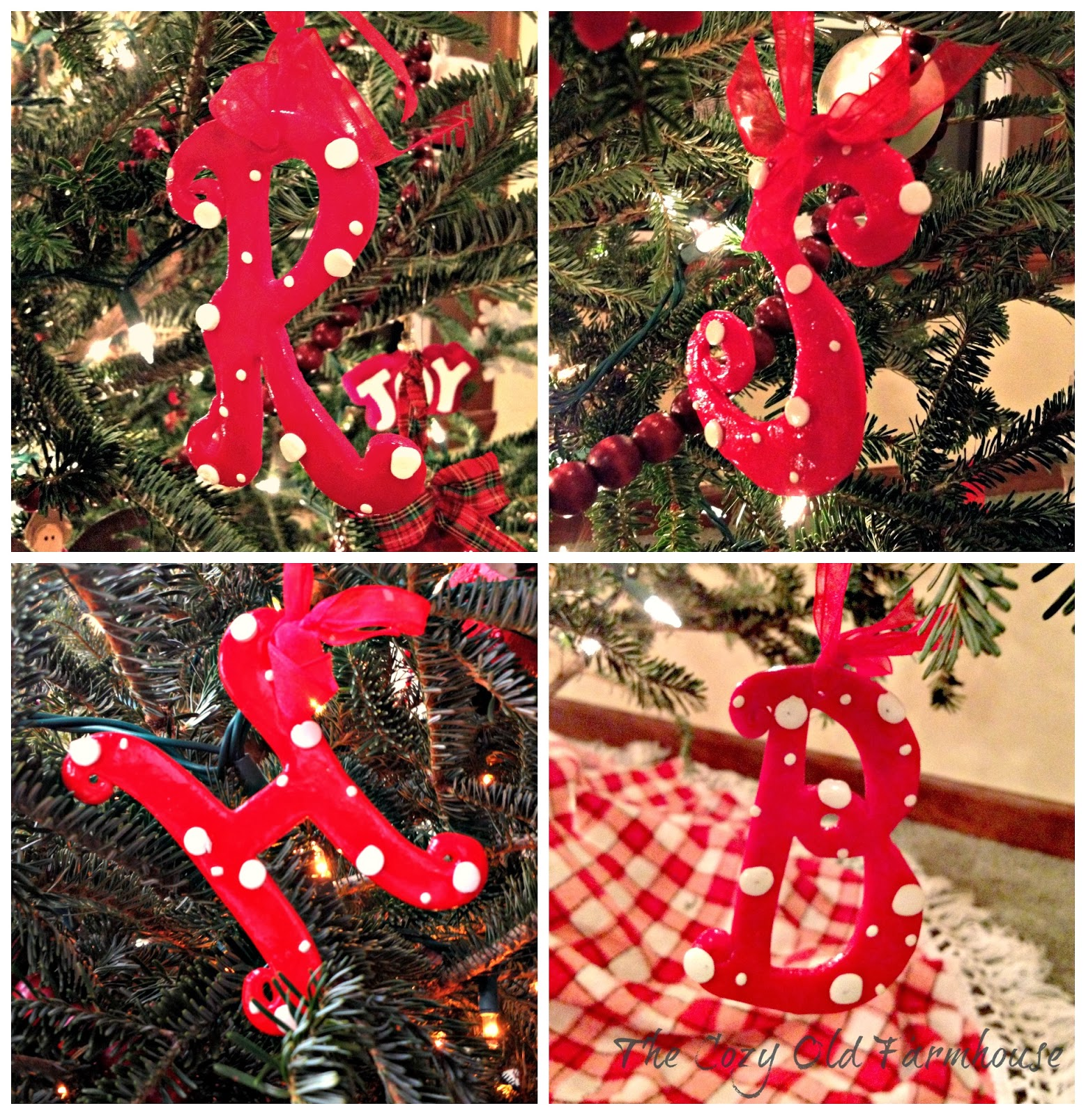 The cozy old farmhouse red and white nordic christmas tree for Where can i buy a red christmas tree