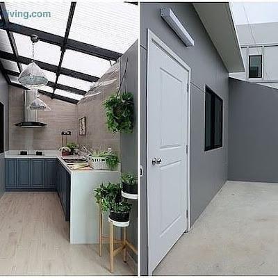 dapur yang menyatu dengan kamar mandi