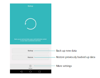 Using the Backup application to back up and restore data