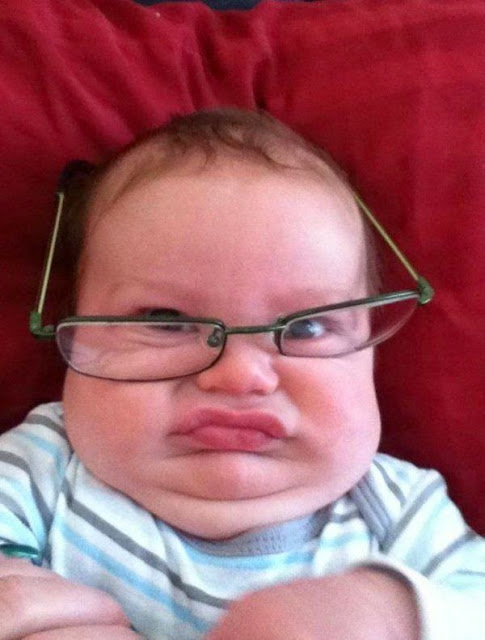 Funny Miss Baby With Teacher Glasses Joke Picture
