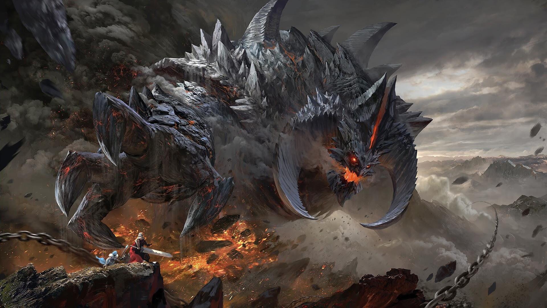 Fantasy, Monster, Epic, Battle, 4K, #115 Wallpaper
