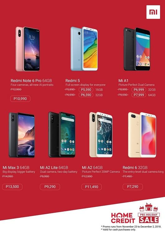 Xiaomi Announces Pre-holiday Sale