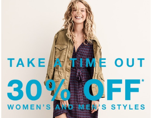 Gap 30% Off Women's & Men's Styles Promo Code