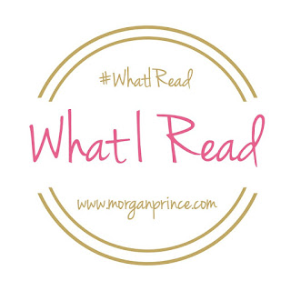 Gold circle containing words 'What I Read' in pink