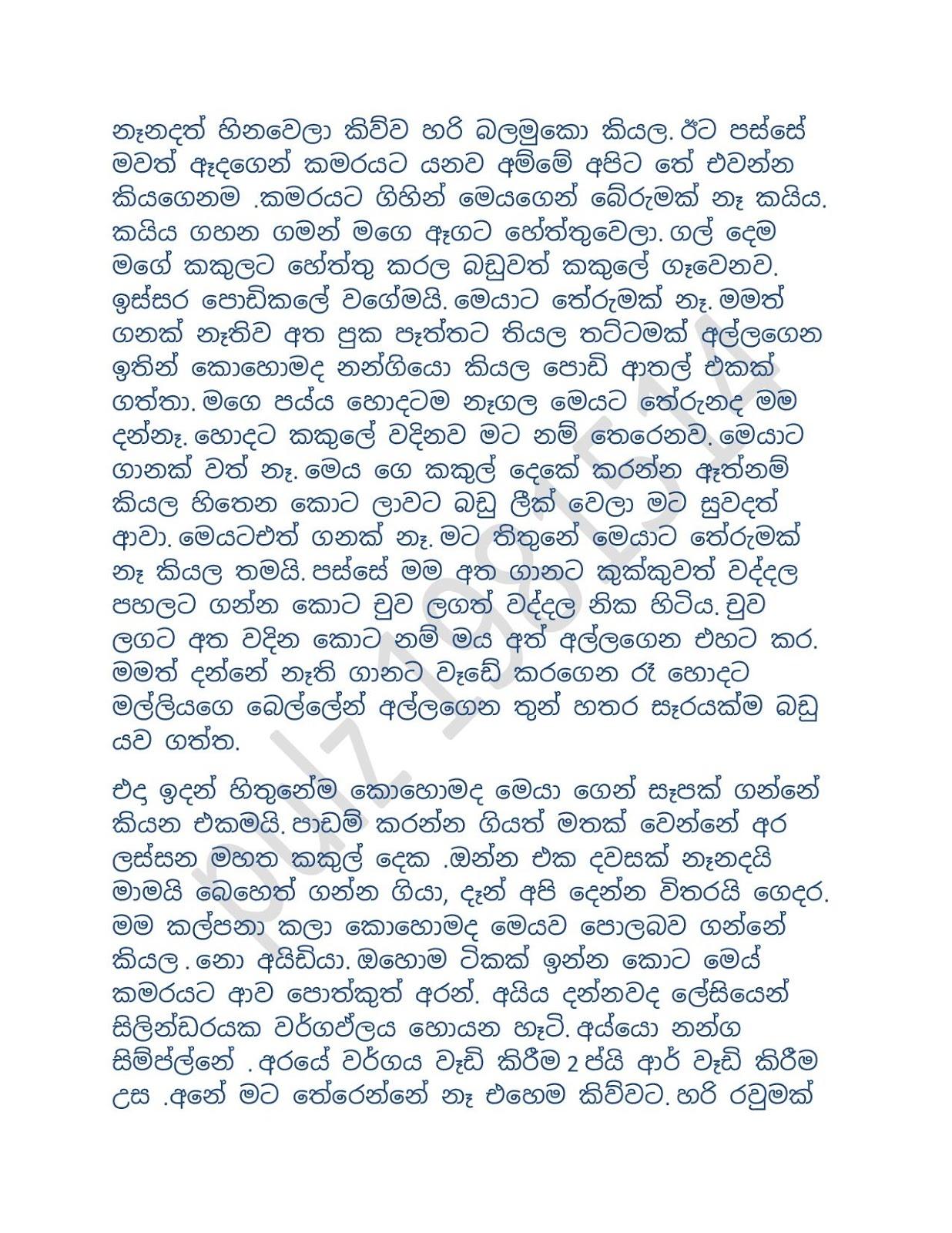චූටිනැඳම්මා1 - Sinhala Wal Katha