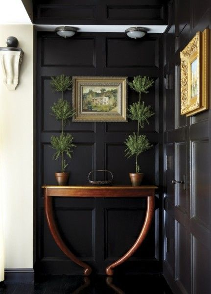 thirty eighth street, chalk paint, diy, painted wainscoting, black paint, classico regular chalk paint