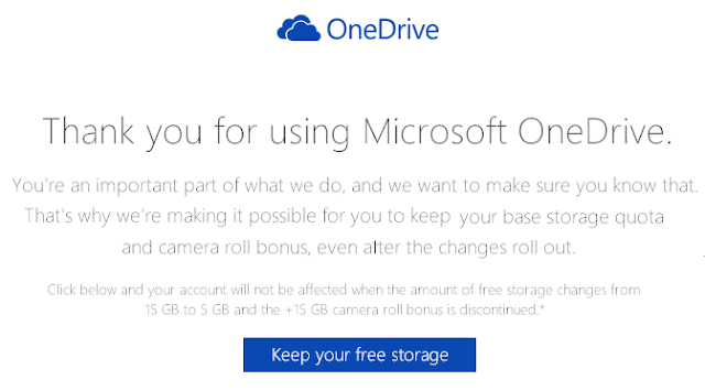 OneDrive Keep your free stroage