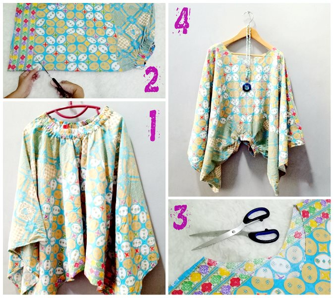 So Here Are The Super Easy Steps To Remake My Old Alladin Pants Into A Kimono Blouse Or Batwing Enjoy