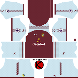 Burnley F.C. Kits 2017/2018 - Dream League Soccer