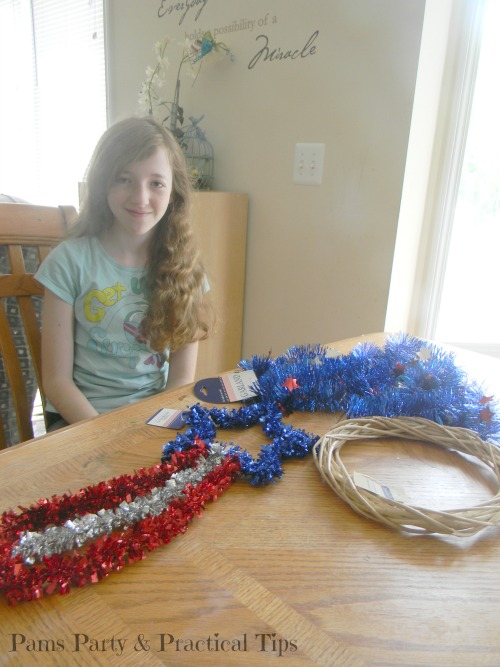 Patriotic Supplies for Wreath