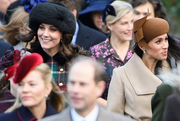 Queen Elizabeth, Duchess Camilla, Catherine, Duchess of Cambridge, Prince Harry, Meghan Markle, Sophie, Countess of Wessex, Lady Louise Windsor, Princess Anne, Princess Eugenie and Princess Beatrice