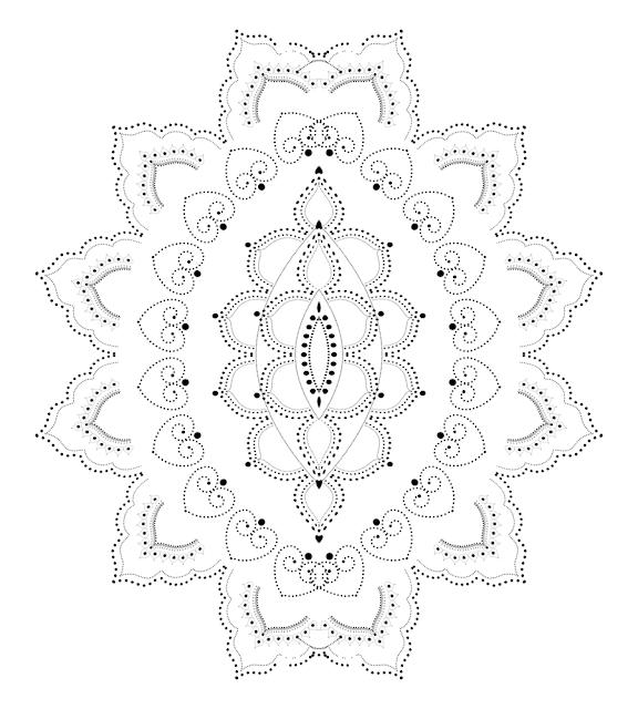 Rangoli design of dots