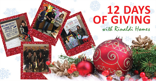 #12DaysOfGiving with Rinaldi Homes - Youth Unlimited