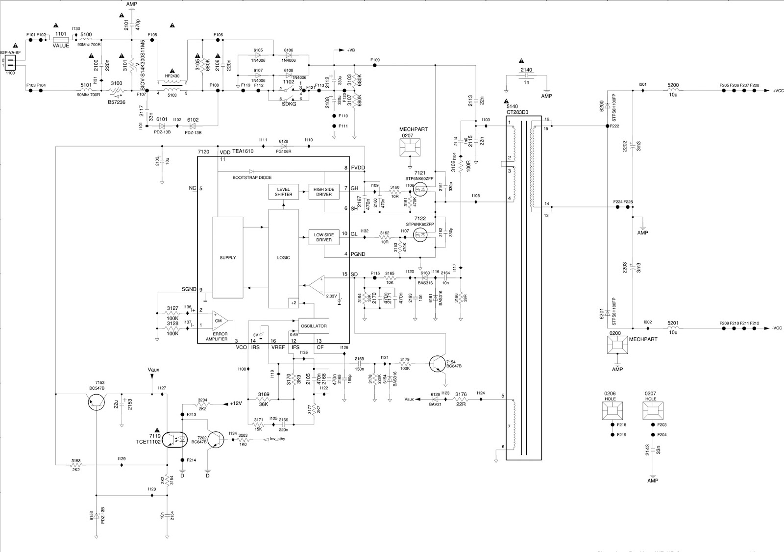 philips power supply diagram