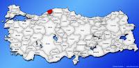 Bartın ilinin Türkiye haritasında gösterimi
