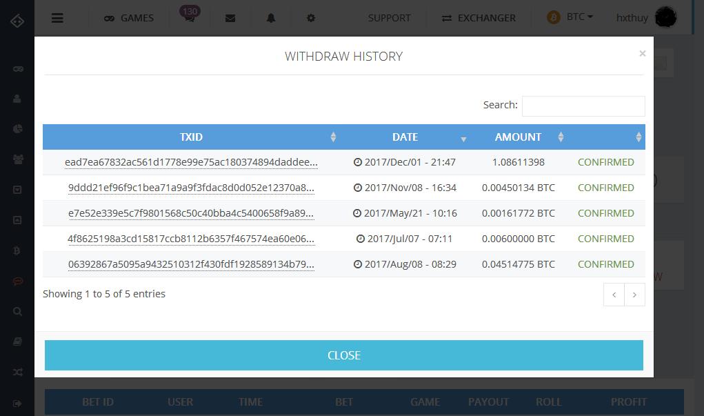 Payment Proof of Bitsler.com