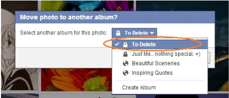 how to delete pictures on facebook app