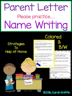 https://www.teacherspayteachers.com/Product/Parent-Letter-Practice-Name-Writing-823370