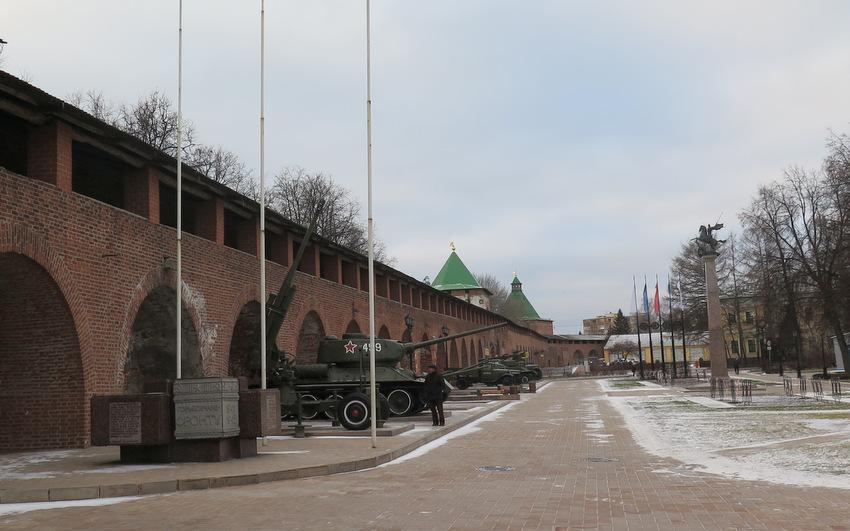 Стены кремля.