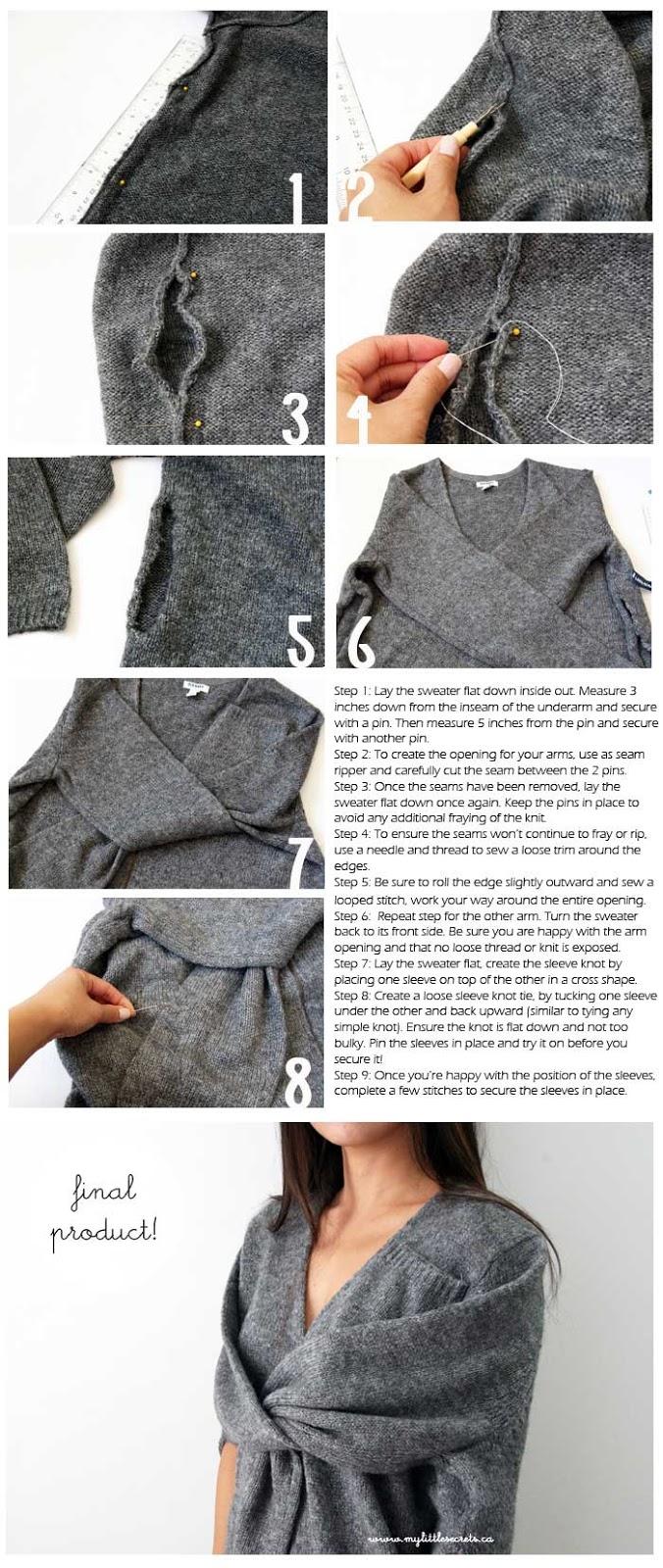 chaqueta, mangas, bricomoda, labores, costura, refashion, transformación