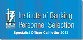 IBPS Specialist Officer Result 2017 Score Card