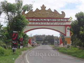 tugu perbatasan Bandar Lampung dan Lampung Selatan