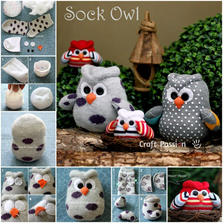 How To Make Sock Owl