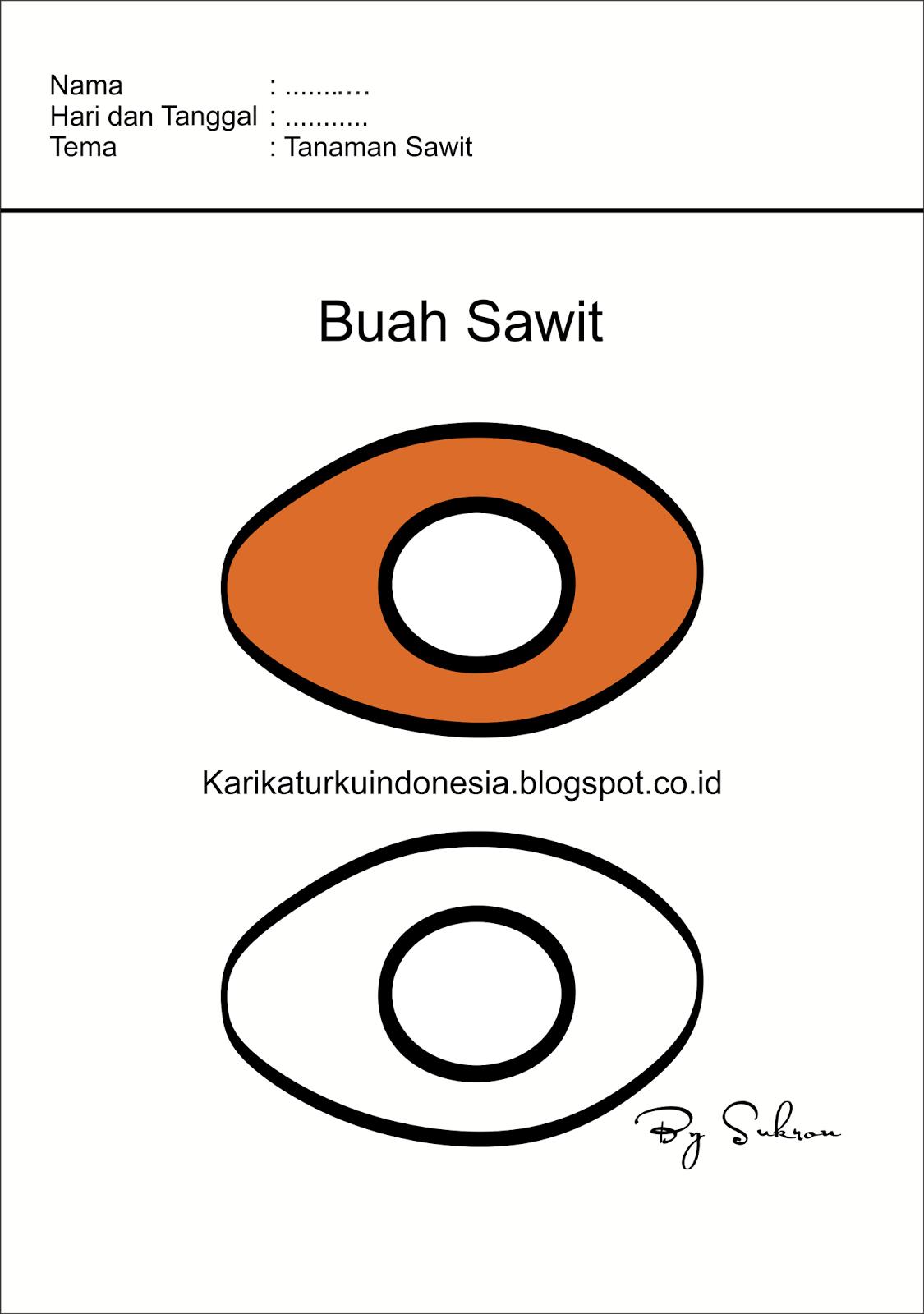 Karikaturku Indonesia Flash Card Buah Sawit
