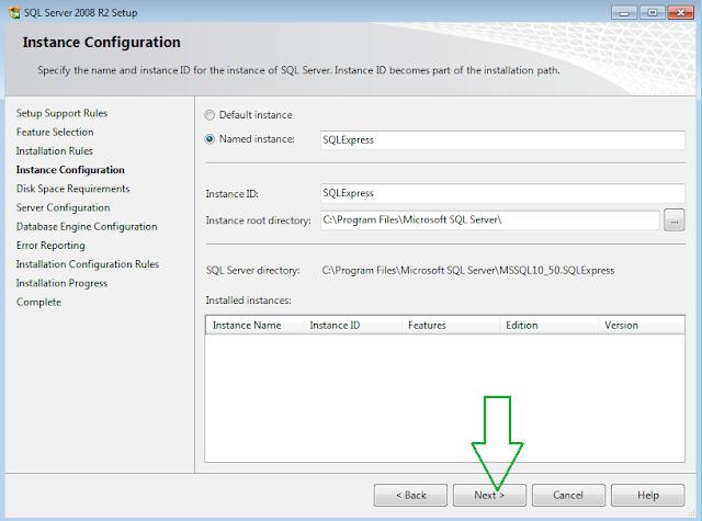 SQL Server 2008 R2 Installation Instance Configuration