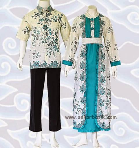 Baju Batik Terbaru Muslim Couple Pria Wanita Model Foto: Baju Batik Muslim Modern Wanita Pria Terbaru