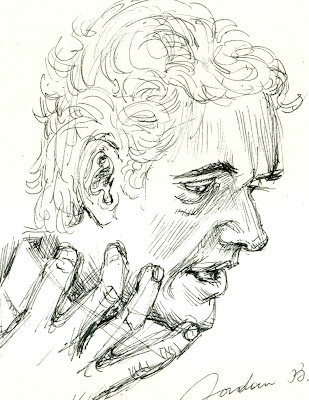 Jordan B. Peterson, drawing, portrait, glechner, pendrawing