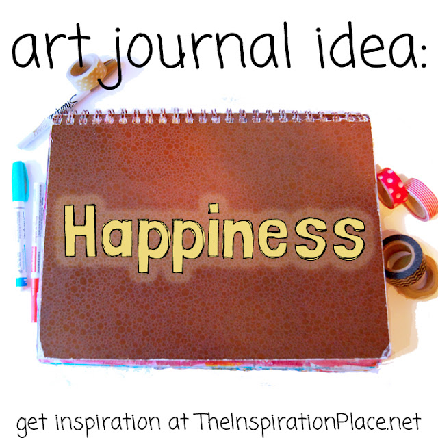 art journal idea | http://schulmanart.blogspot.com/2015/09/an-art-journal-in-search-of-happiness.html