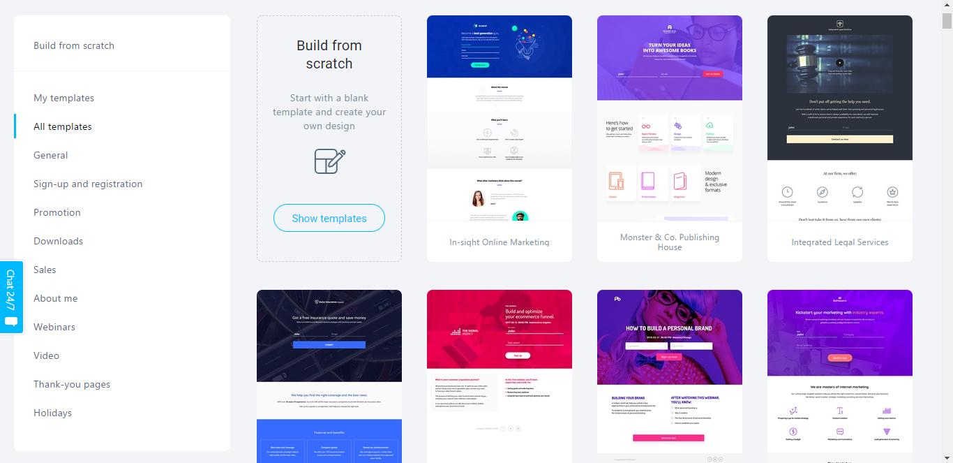 Landing Page Builder - GetResponse