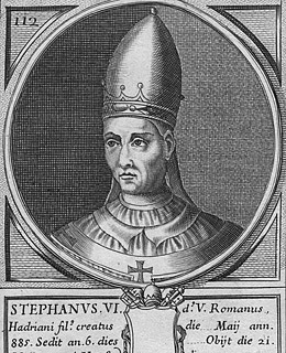 Pope Stephen VI (896 to 897)