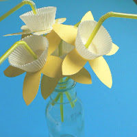 Daffodil Flower Straws and Flower Candy Cups