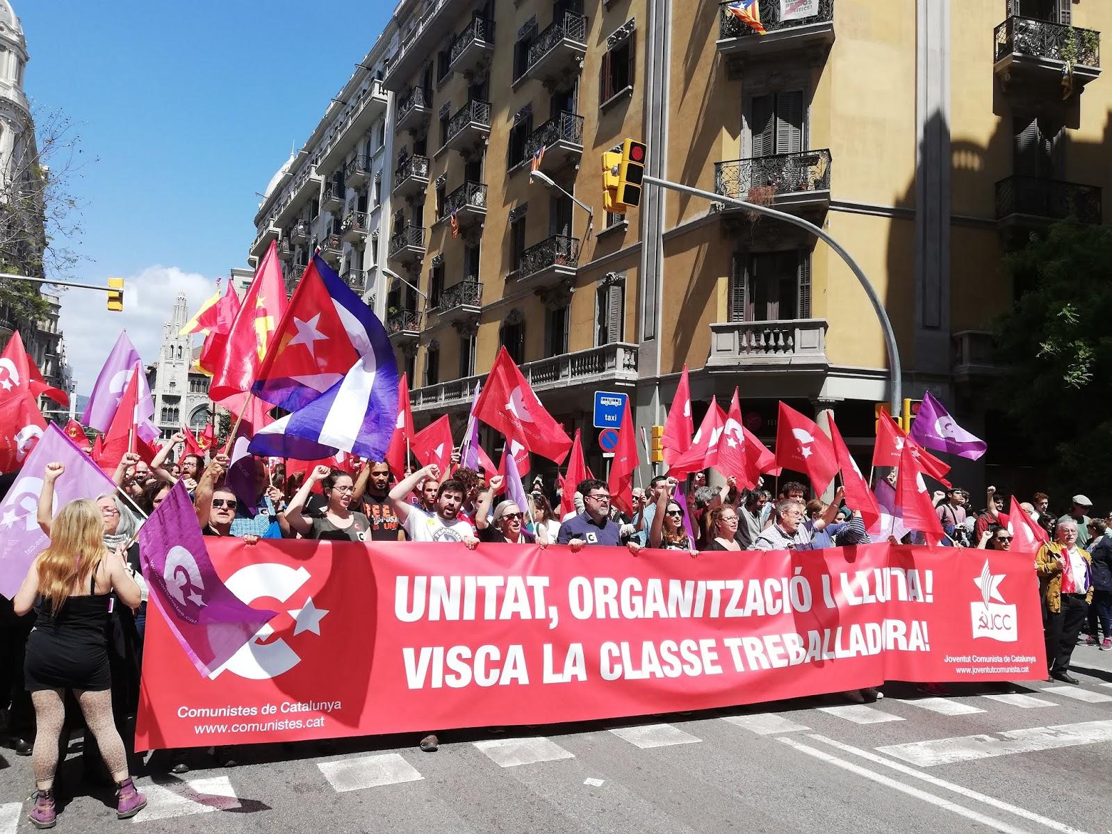Manifestació del Primer de Maig. Foto: realitat
