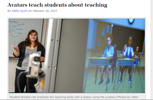 Avatars Teach Students about Teaching