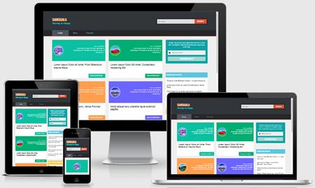 Sanggala responsive seo fast blogger template