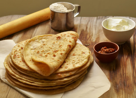 Stuffed Aloo/potato parathas (indian flat bread)