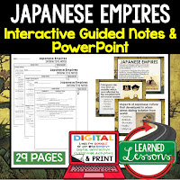 Ancient World History Notes, World History Notes, World History Guided Notes Interactive Notebook, Note Taking, PowerPoints, Anticipatory Guides, Google Classroom Link