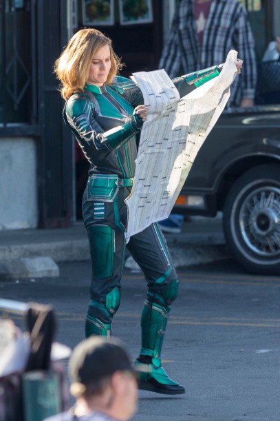 The first photos of Brie Larson as Captain Marvel
