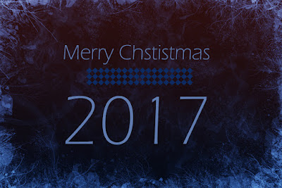 Merry Christmas greeting card 2017
