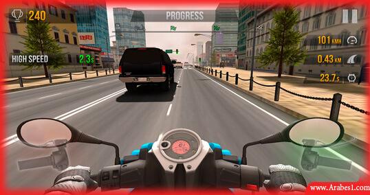 لعبة قيادة دراجات نارية للاندرويد : Traffic Rider