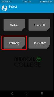 boton recovery