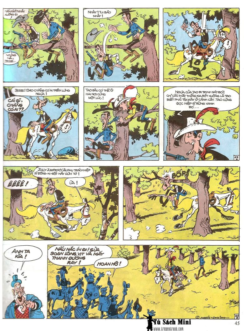 Lucky Luke tap 16 - jesse james hiep si rung xanh trang 47