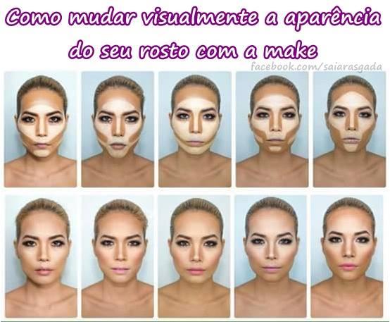 efeitos que fazem uma plástica visual no seu rosto apenas usando make