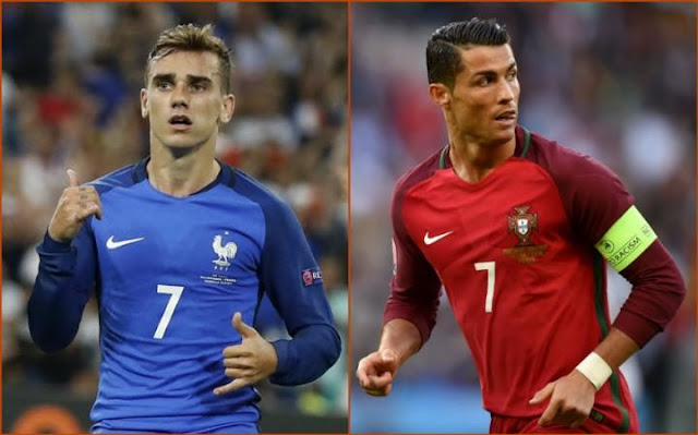 Data dan fakta Portugal vs Prancis Final Piala Euro 2016