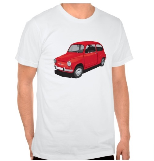 Fiat 600 t-shirt red