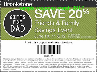 Brookstone coupons march